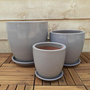 Egg Planter Grey