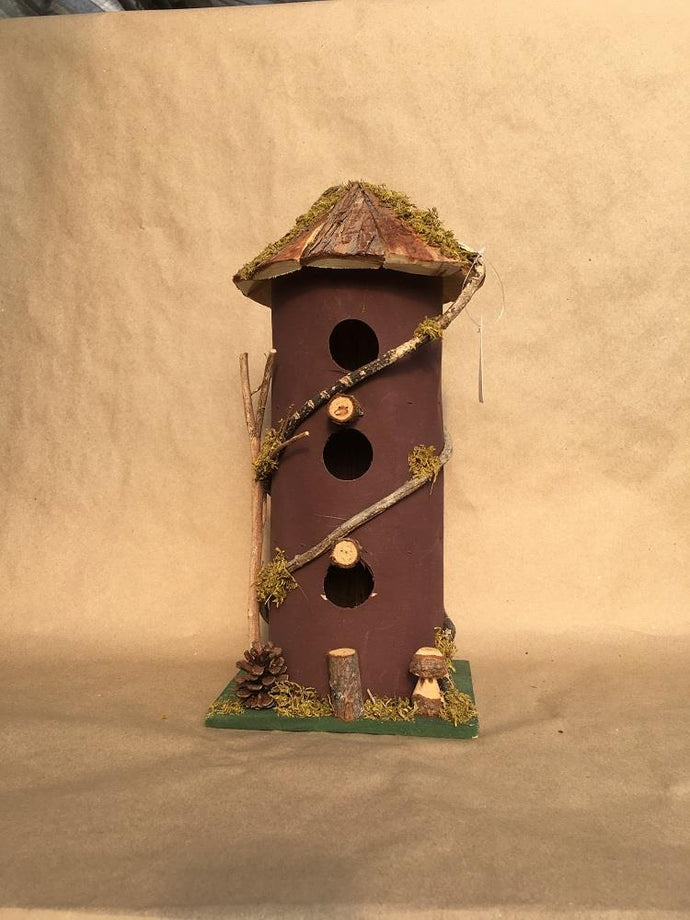 Birdhouse Red Tower