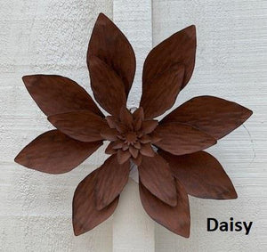 Assorted Rusted Flower Wall Art