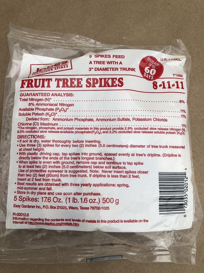Jobe's Fruit Tree fertilizer spikes
