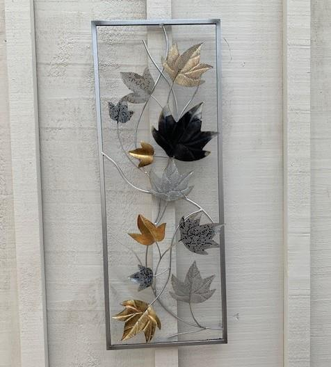 Wall Art Metal Leaves