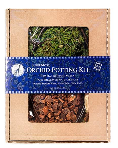 SuperMoss Orchid Potting Kit - Dark Green