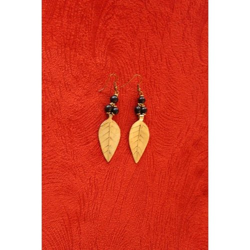Acacia Leaf brass african earrings - KENDI AMANI