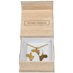 Mama Africa Earring and Necklace set - KENDI AMANI
