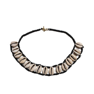 Mombasa Cowrie Shell necklace set - KENDI AMANI