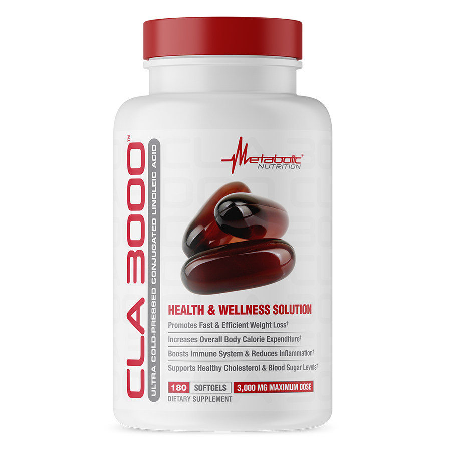 CLA 3000, 180 softgels. Ultra Cold Pressed Conjugated Linoleic Acid. Health and Wellness Solution.