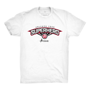 Unleash Your Superhero Tee - White
