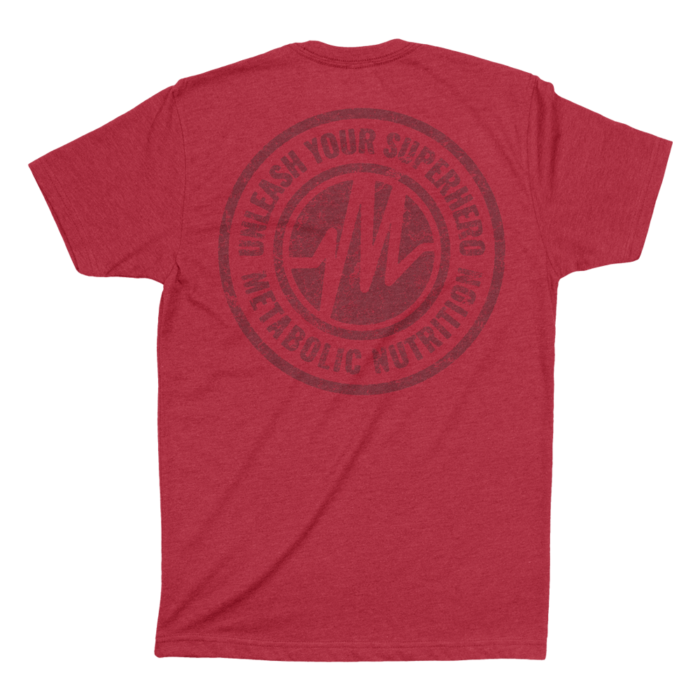 Distressed Superhero Tee - Antique Red