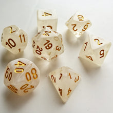 Mist with Gold Ink Translucent Dice Set