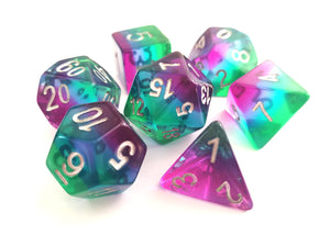 Mermaid Layered Translucent Dice Set