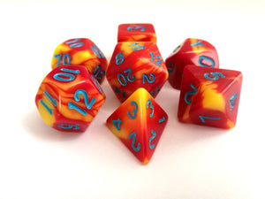 Red/Yellow Dual Colour Dice Set - HD Dice