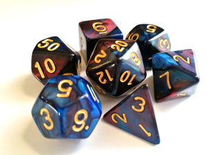 Red/Blue Dual Colour Dice Set