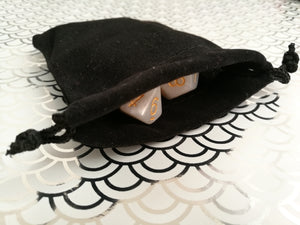 Small Dice Bag - Plain Black