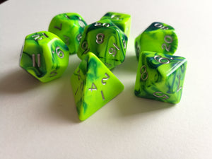 Toxic Slime Dice Set