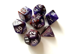 Purple/Copper Dual Colour Dice Set