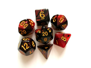 Red Pearl/Black Dual Colour Dice Set