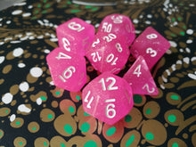 Princess Pink Intense Glitter Dice Set - Bescon