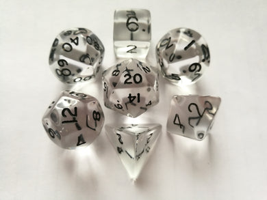Clear Gem Dice Set