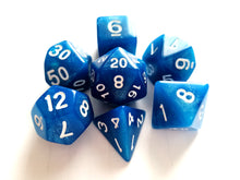 Blue Shimmer Dice Set