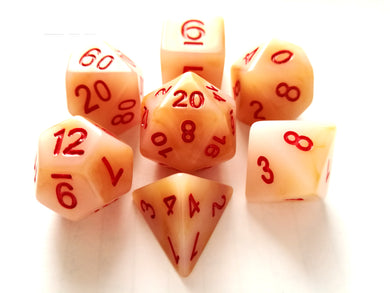 White Jade Dice Set