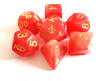 Red Dual Coloured Glow in the Dark Dice Set