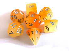 Orange Dual Coloured Glow in the Dark Dice Set