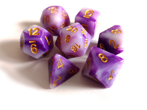 Purple Jade Dice Set