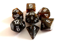 Ancient Amber Galaxy Dice Set