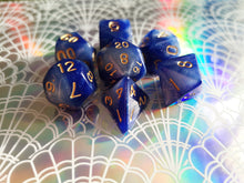 Blue/Silver Galaxy Dice Set