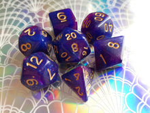 Blue/Purple Galaxy Dice Set