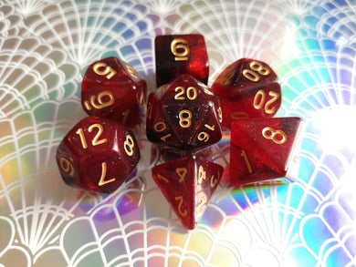 Red/Black Galaxy Dice Set