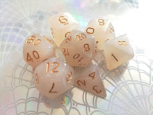 White Shimmer Dice Set