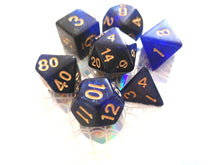Blue/Black w/Gold Space Dice Set