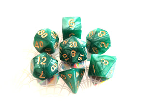 Green Pearl Dice Set