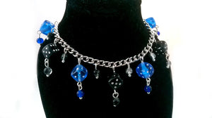 Blue & Black Dice Charm Bracelet