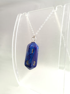 Blue Pearl Crystal Caste D10 Necklace