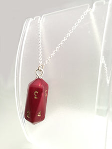 Red Pearl Crystal Caste D10 Necklace