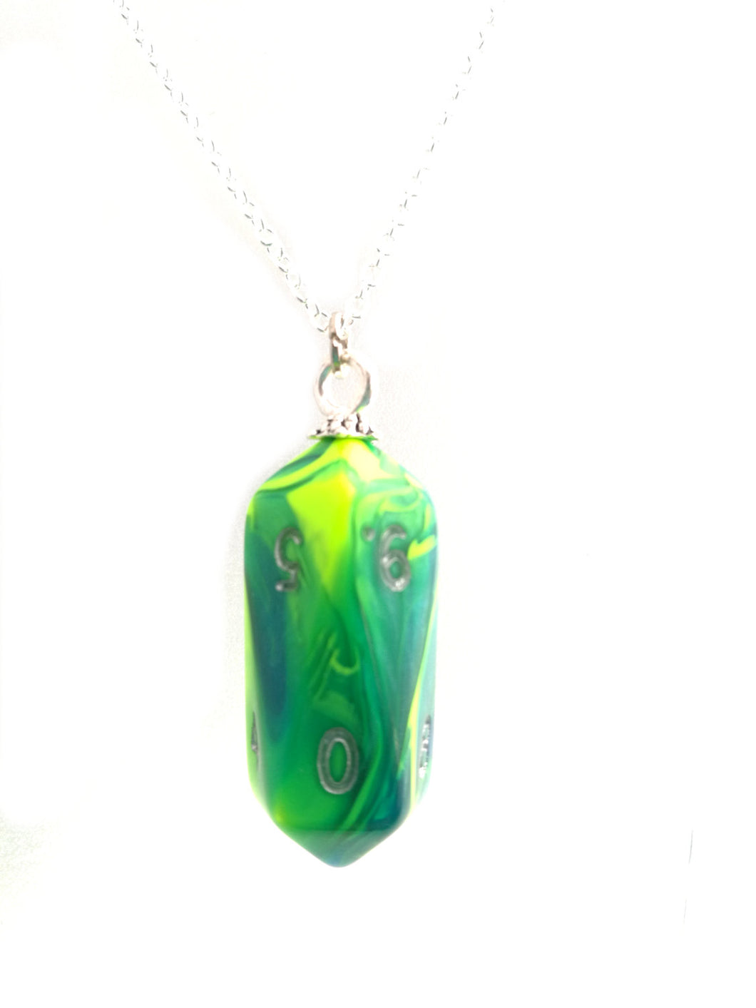 Toxic Slime Crystal Caste D10 Necklace