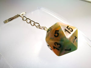 Hurricane Grey D20 Keyring