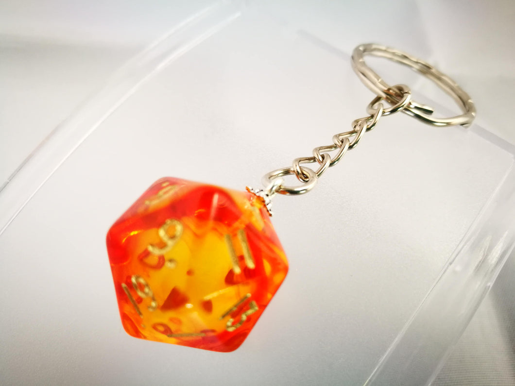 Red Gem Blitz D20 Keyring