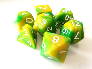 Green/Yellow Dual Colour Dice Set