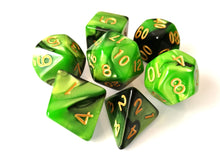Green/Black Dual Colour Dice Set