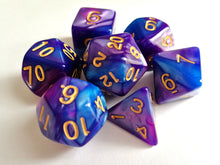 Blue/Purple Dual Colour Dice Set