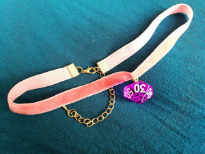 Purple Gem D% Pink Choker