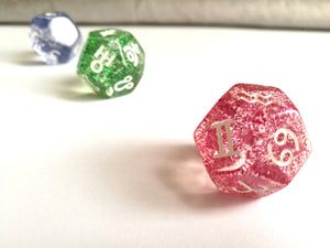 Glitter Astrology Dice Set, Glittery Dice
