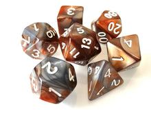 Copper/Steel Dual Colour Dice Set