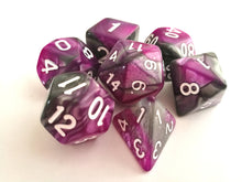 Purple/Steel Dual Colour Dice Set
