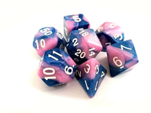 Blue/Pink Dual Colour Dice Set - Bescon