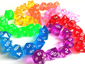Bright Gem Polyhedral Dice Sets