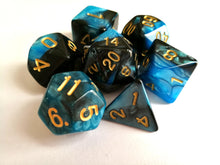 Blue/Black Dual Colour Dice Set